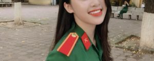 Linh Truong - The female student of a beautiful military uniform is like an angel making thousands of people love (4)